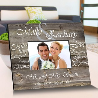 Personalized Tying The Knot Wooden Picture Frame