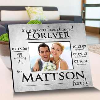 Personalized The Day Our Lives Changed Picture Frame