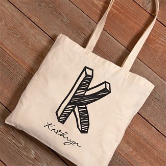 Personalized Kate Monogram Tote Bag