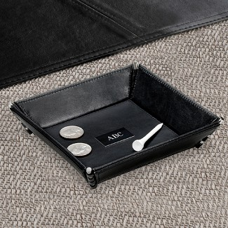 Personalized Leather Stash Tray