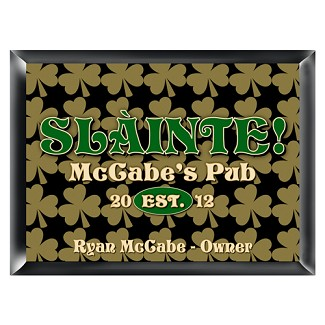 Personalized Field of Clover Pub Sign