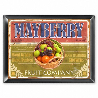 Personalized Fruit Company Pub Sign