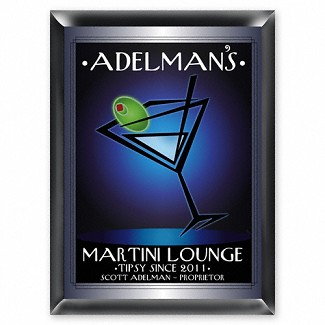 "Personalized ""After Hours"" Martini Lounge Pub Sign"