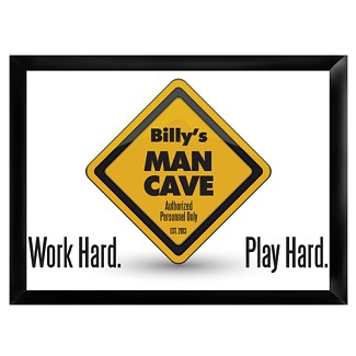 Personalized Work Hard, Play Hard Pub Sign