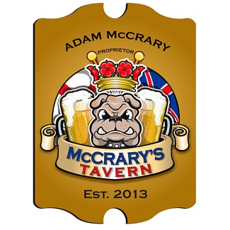 Vintage Personalized English Bulldog Pub Sign