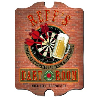 Vintage Personalized Darts Pub Sign