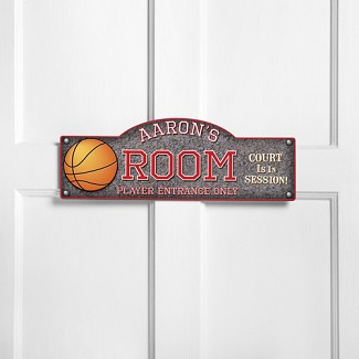 Personalized Hoops Kid's Room Sign