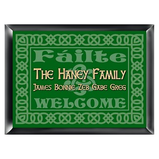 Personalized Irish Family Signs