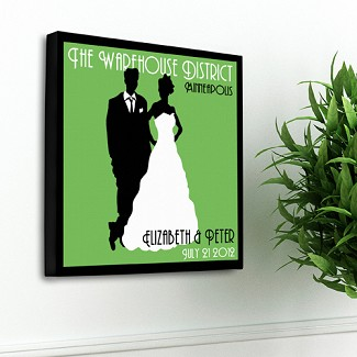 Personalized Couples Studio Canvas Print
