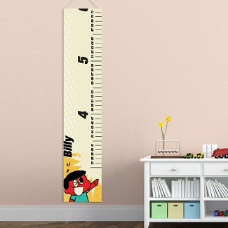 Personalized Retro Boy's Height Chart