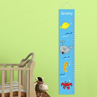 Personalized Sea Life Height Chart