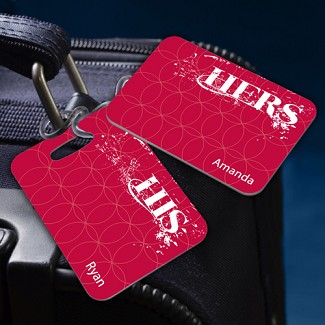 Personalized His and Hers Couples Luggage Tags
