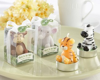 """Born to be Wild"" Animal Candles (Set of 4, Assorted)"