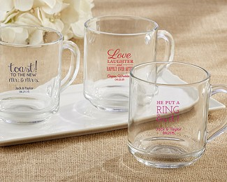 "Personalized ""Rise and Shine"" Glass Coffee Mug"