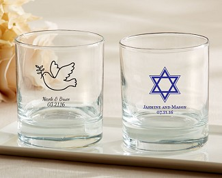 Personalized 9 oz. Rocks Glass - Religious